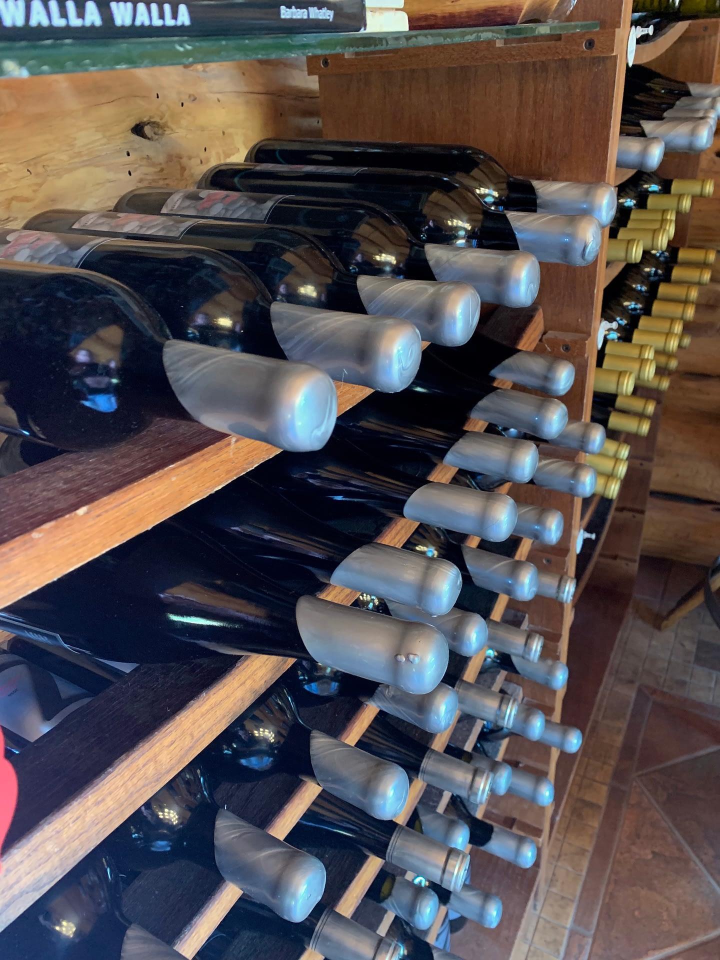 Zerba Wine Cellars red and white wine bottles